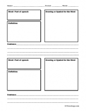 Vocabulary memorization cards