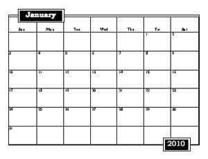 large printable 2010 calendar freeology