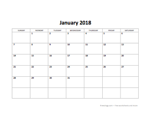 this 2018 calendar in available in docx format is editable so you can use the boxes to type the days lesson plan or objectives there is also a