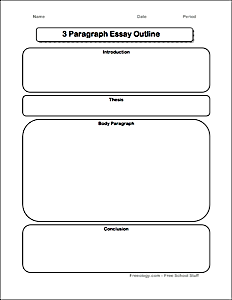 3 Paragraph Essay Graphic Organizer Freeology