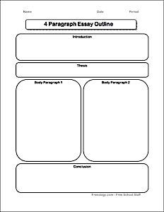 4 paragraph essay graphic organizer freeology