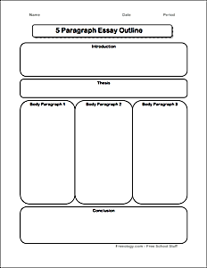 5 Paragraph Essay Graphic Organizer - Freeology