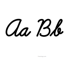 picture about Printable Big Alphabet Letters identified as Cursive Alphabet Letters - Freeology