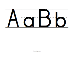 picture about Printable Big Alphabet Letters identified as Significant Alphabet Letters - Freeology