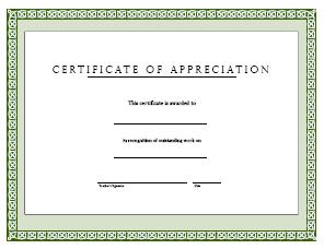 certificate of appreciation freeology