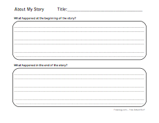 beginning middle end story summary sheet freeology