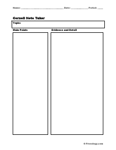 sq3r template - cornell notes template freeology