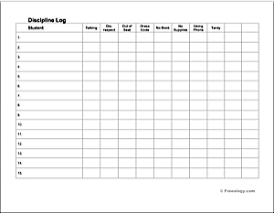 discipline log freeology