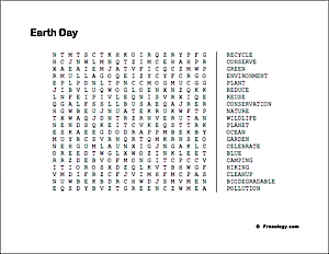 photo relating to Earth Day Word Search Printable named World Working day Phrase Glimpse - Freeology