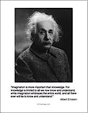 Einstein Quote Imagination Is More Important Than