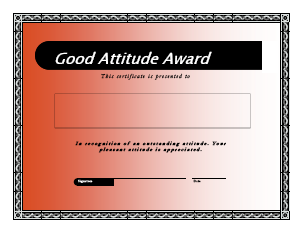 Good Attitude Award Freeology