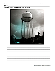 Halloween Scary Story Writing Pages Freeology