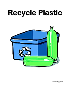 Recycle Plastic Bottles Sign