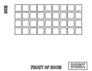 use this word document to create a seating chart move and delete the boxes to configure your classroom then type the students names in the boxes