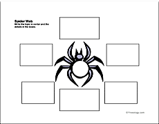 Thematic web freeology diagram spider web organizer tips on using graphic ccuart Images