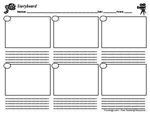 picture regarding Storyboard Template Printable identify Storyboard With 6 Packing containers - Freeology