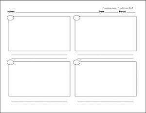 blank comic strip handout