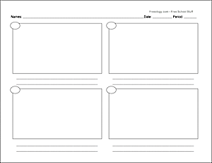 graphic relating to Printable Storyboard identified as Storyboard With 6 Containers - Freeology