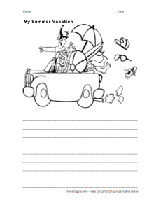 Summer Journal And Coloring Page