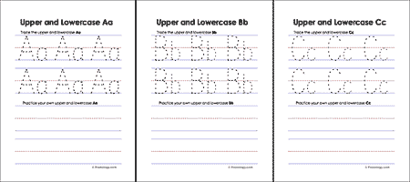 photo regarding Upper and Lowercase Letters Printable known as Higher and Lowercase Letters Worksheets - Freeology