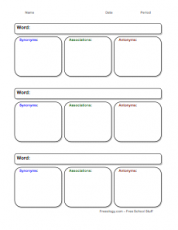 image regarding Vocabulary Graphic Organizers Printable called Picture Organizers - Freeology