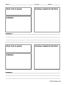 Vocabulary Boxes - Freeology